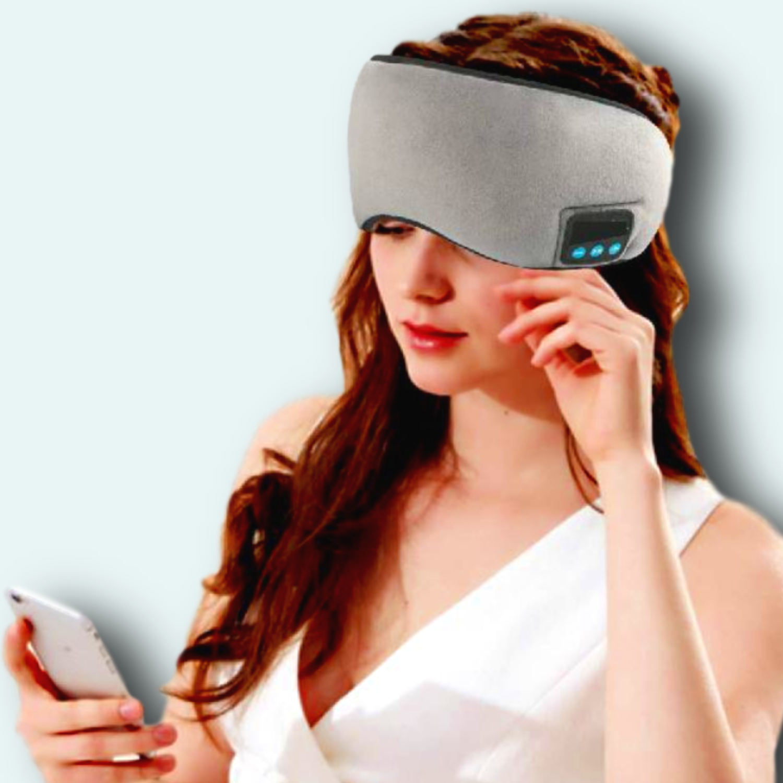 KUCE Sleep Mask Noise Cancelling Sleeping Eye Mask Bluetooth Headphone Comfy & Washable Wireless Eyemask with Stereo Speaker&MIC Perfect for.