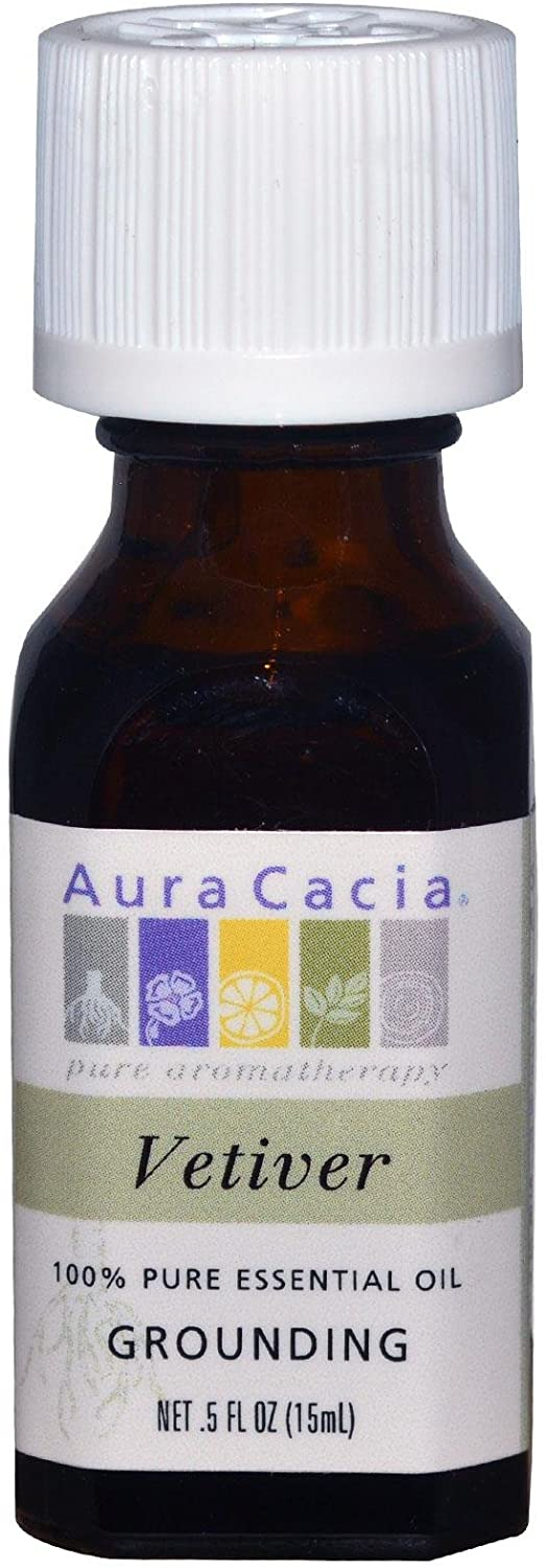 Aura Cacia Vetiver Pure Essential Oil