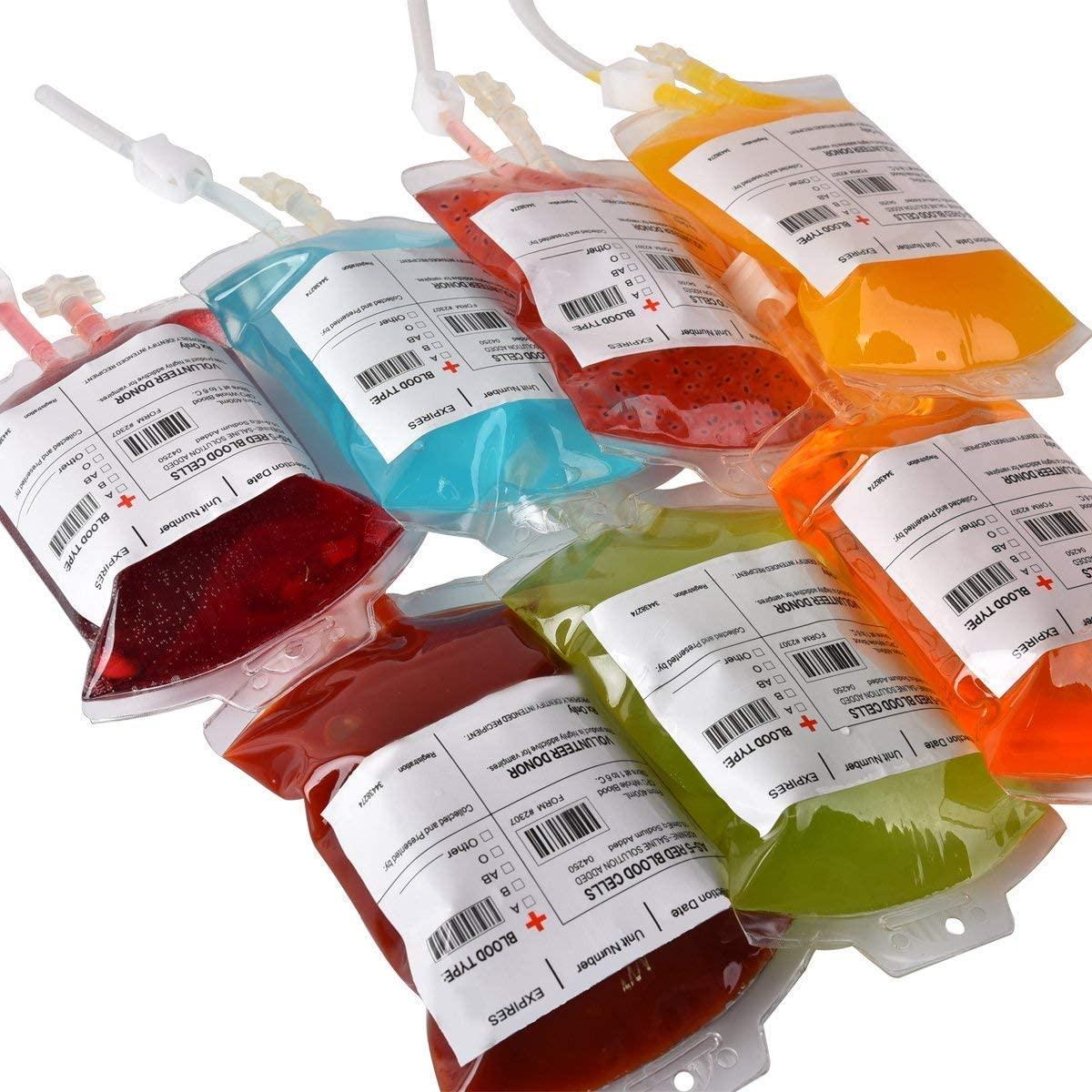 Blood Bag' Drink PouchesMeowtastic