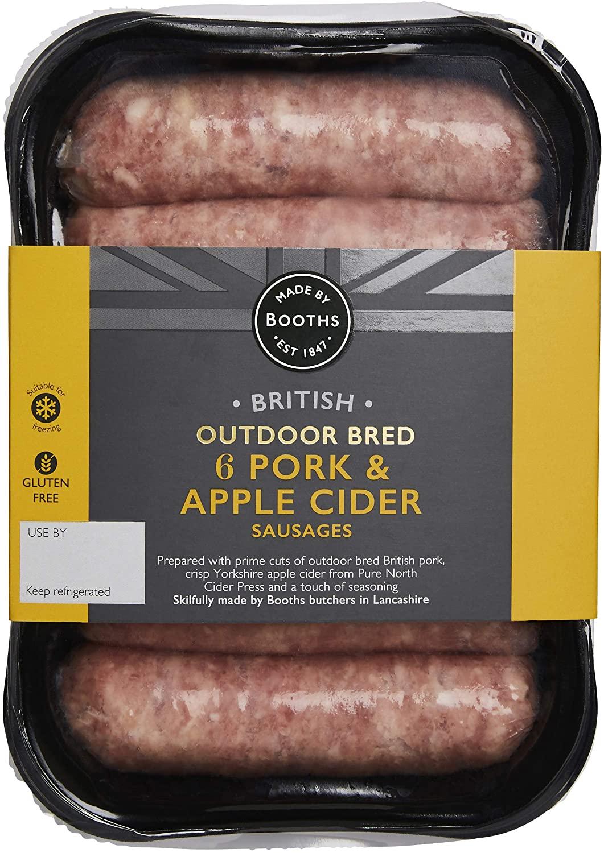 Booths Pork Apple and Cider Sausages