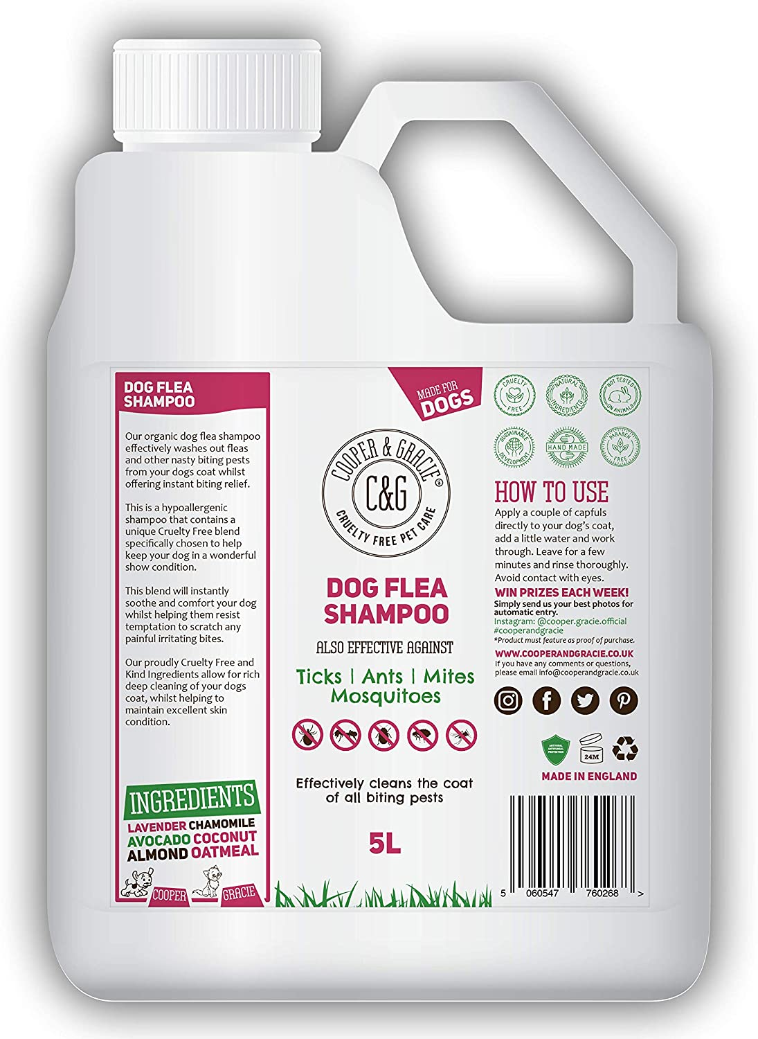 C&G Flea Shampoo for Dogs