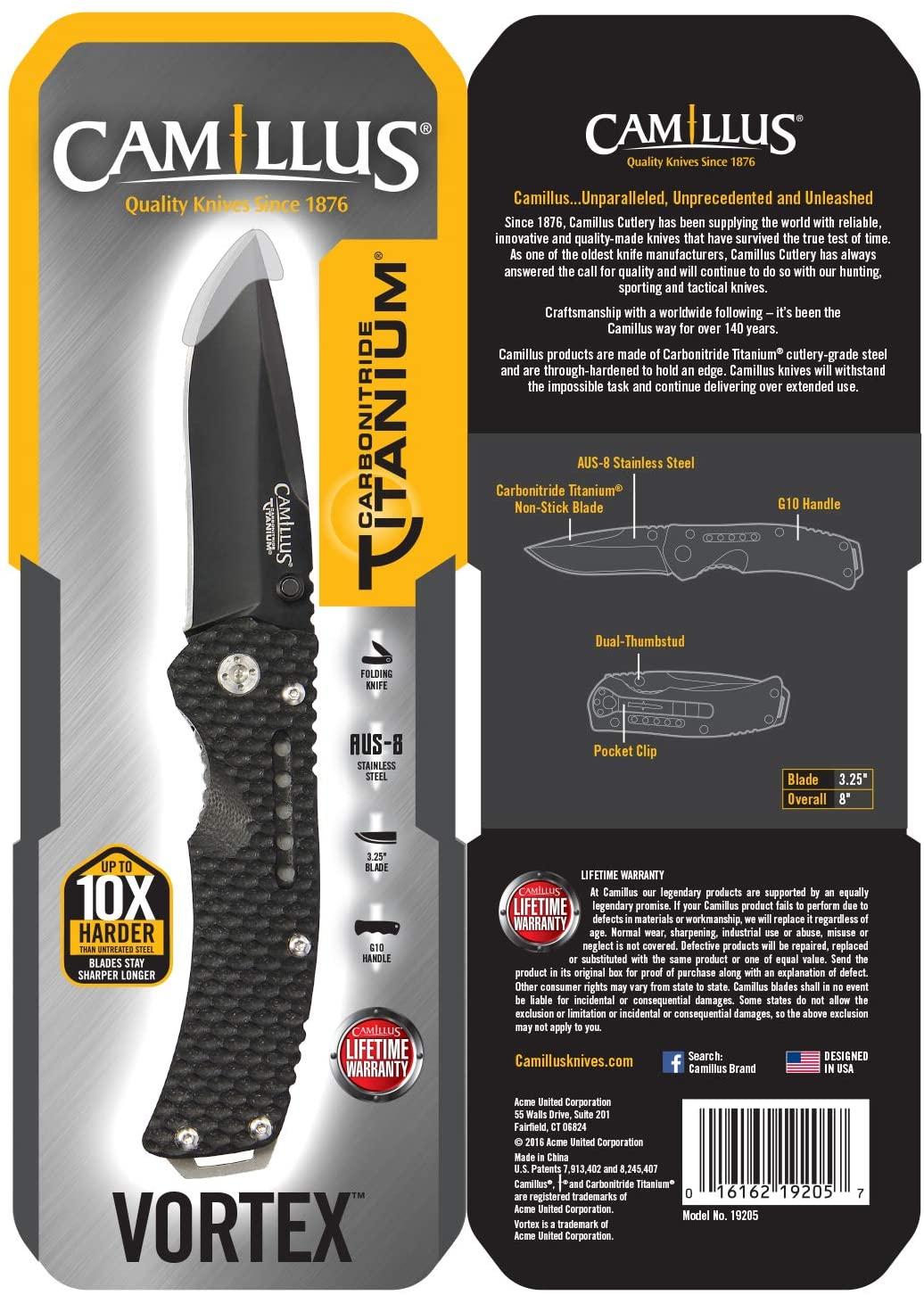 Camillus vortex Folding Knife