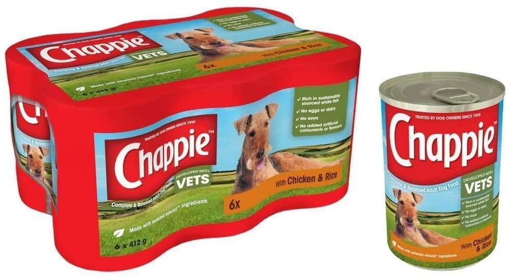 Chappie Chicken Food Tins