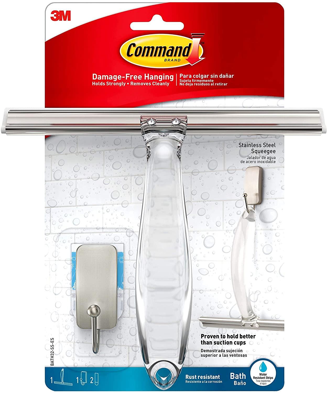 Command BATH32-SS-ES Shower Squeegee