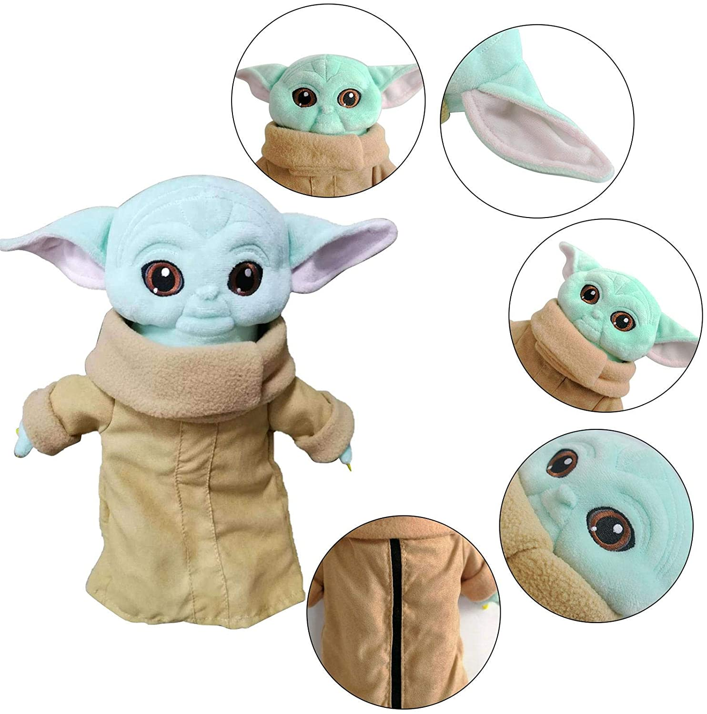 DealmerryUS Star Wars Child Plush Toy,Baby Yoda Plushie Soft Cute Stuffed Gift Toy Yoda Plush Toy Kids Xmas Children's Birthday Christmas Collection Gift