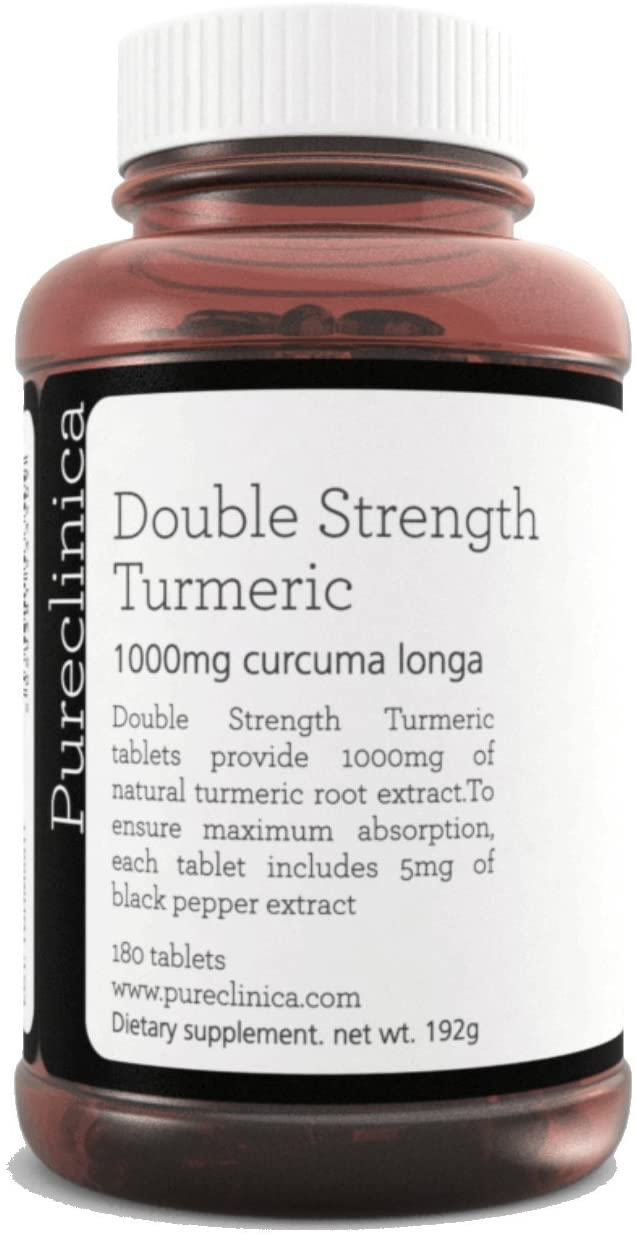 Double Strength Turmeric - Massive 1000mg x 180 tablets