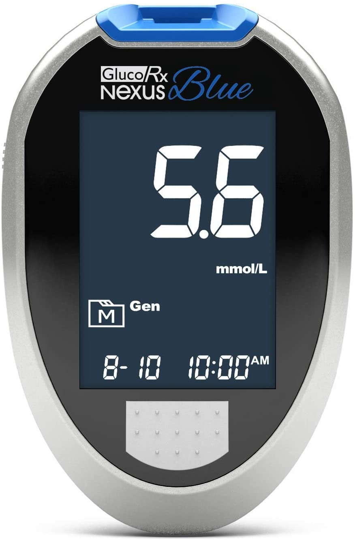 GlucoRx Nexus Blue Blood Glucose Monitoring