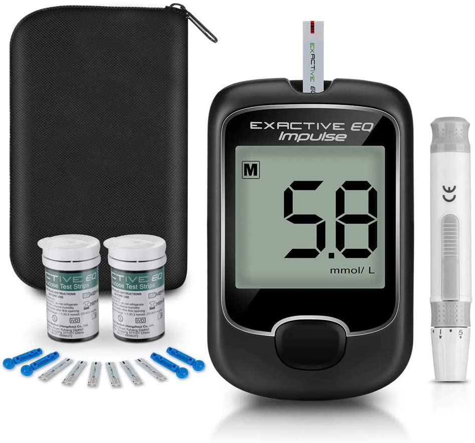 Home Fully Automatic Blood Glucose Meter High Blood Glucose Meter Diabetes Blood Glucose Test Kit Blood Glucose Monitoring Kit-with 50 Pieces Test Strip + 50 Pieces Needle