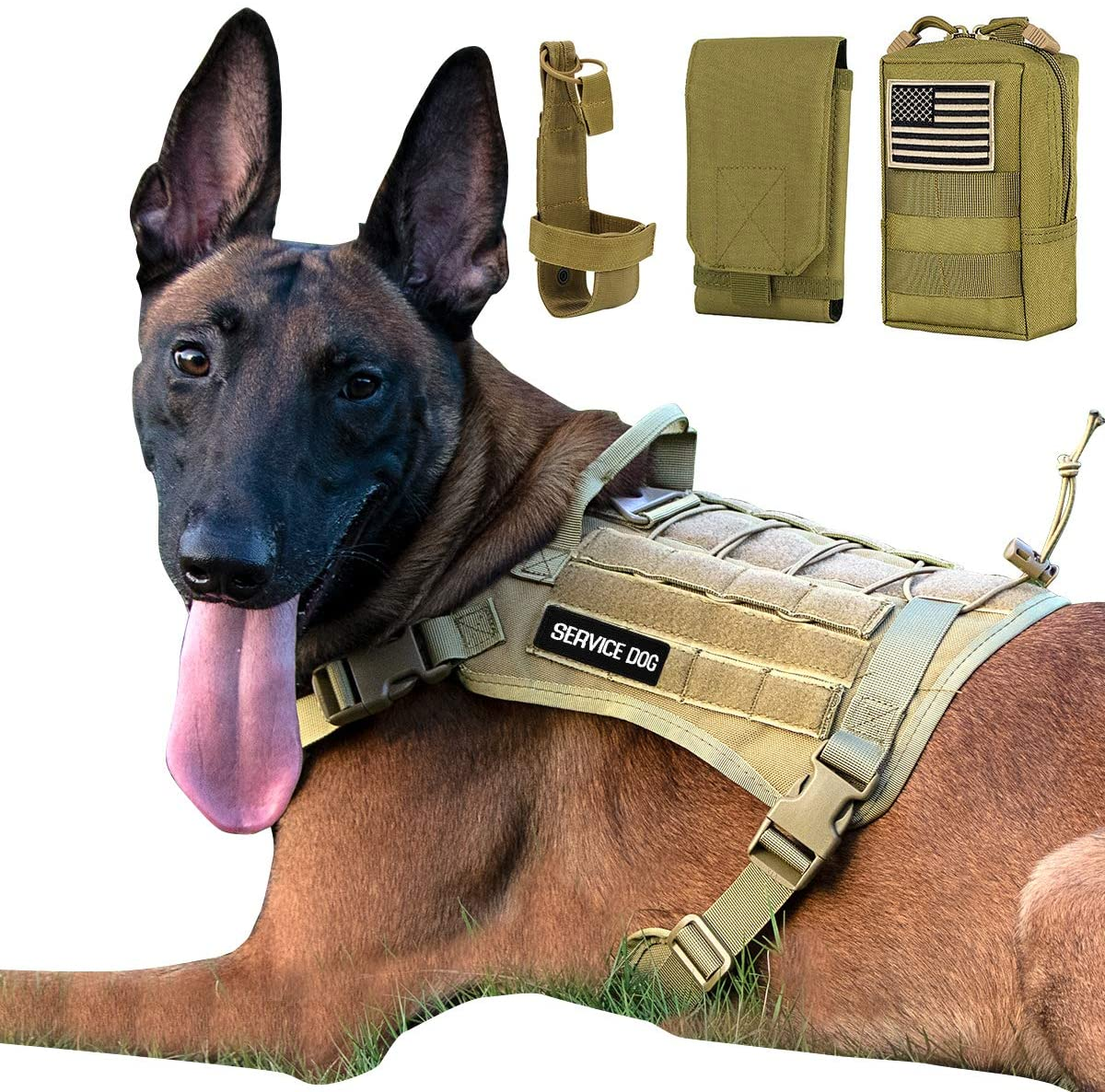 IronSeals Tactical Service Dog Harness