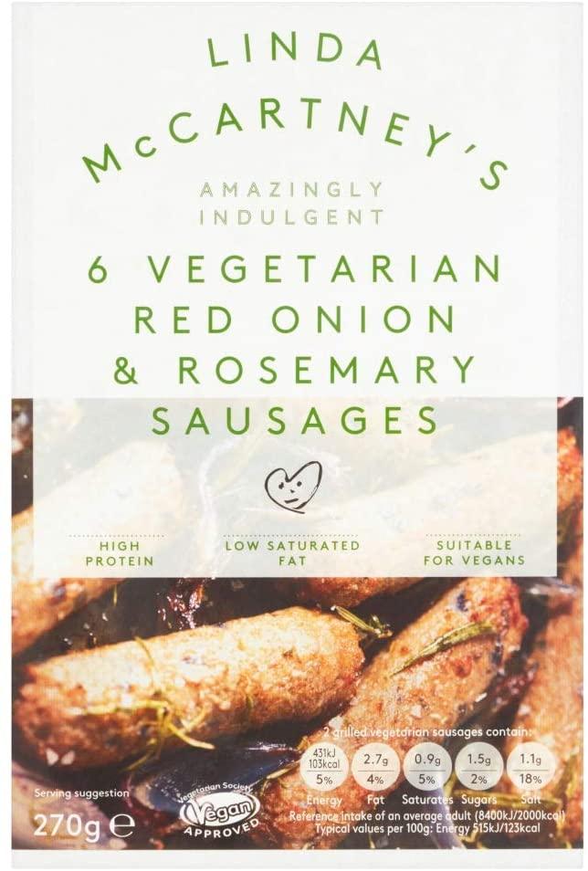 Linda McCartney's 6 Vegetarian Red Onion & Rosemary Sausages
