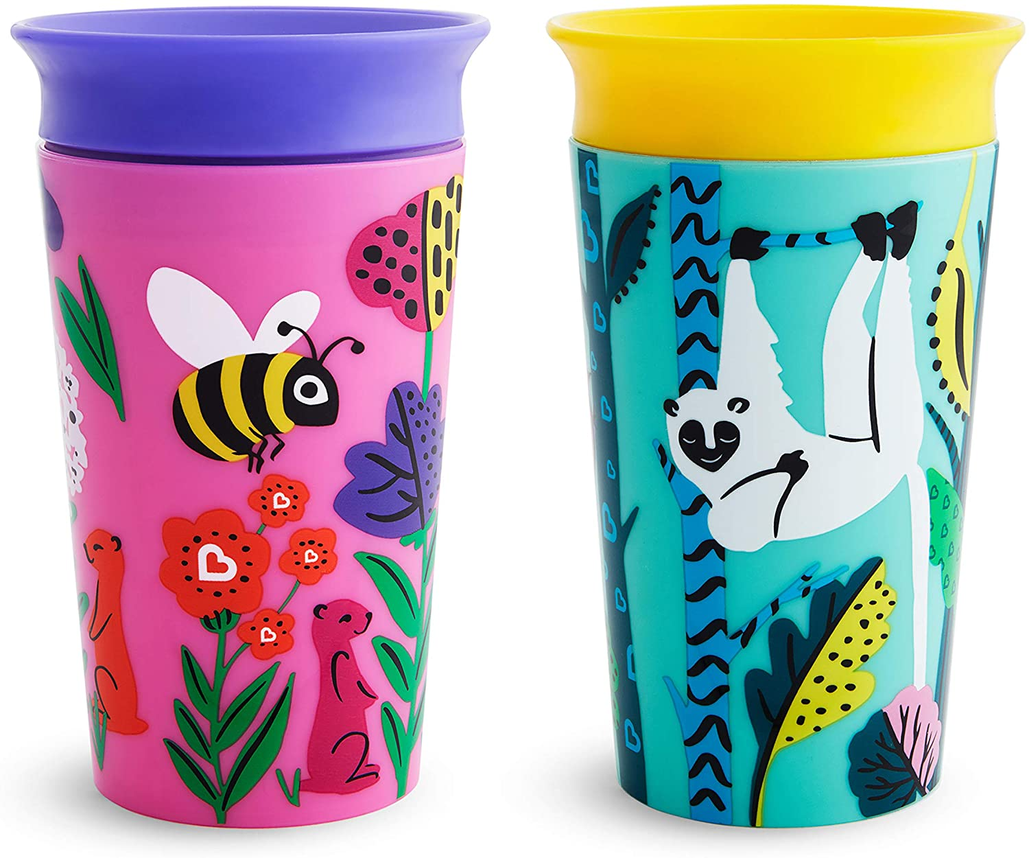Munchkin Miracle 360 WildLove Sippy Cup, 9 oz / 266 ml, 2 Pack, Polar Bear/Orca