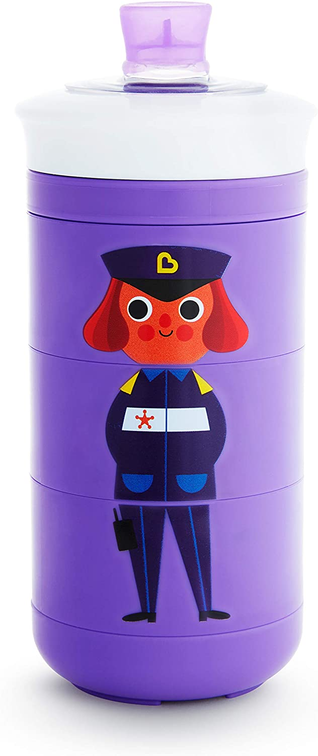 Munchkin Twisty Mix & Match Character Sippy Cup, 9 Ounce, Purple