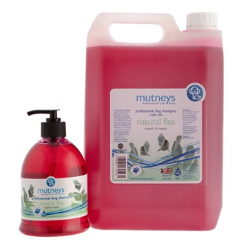 Mutney's Professional Pet Care Natural Flea Dog Shampoo