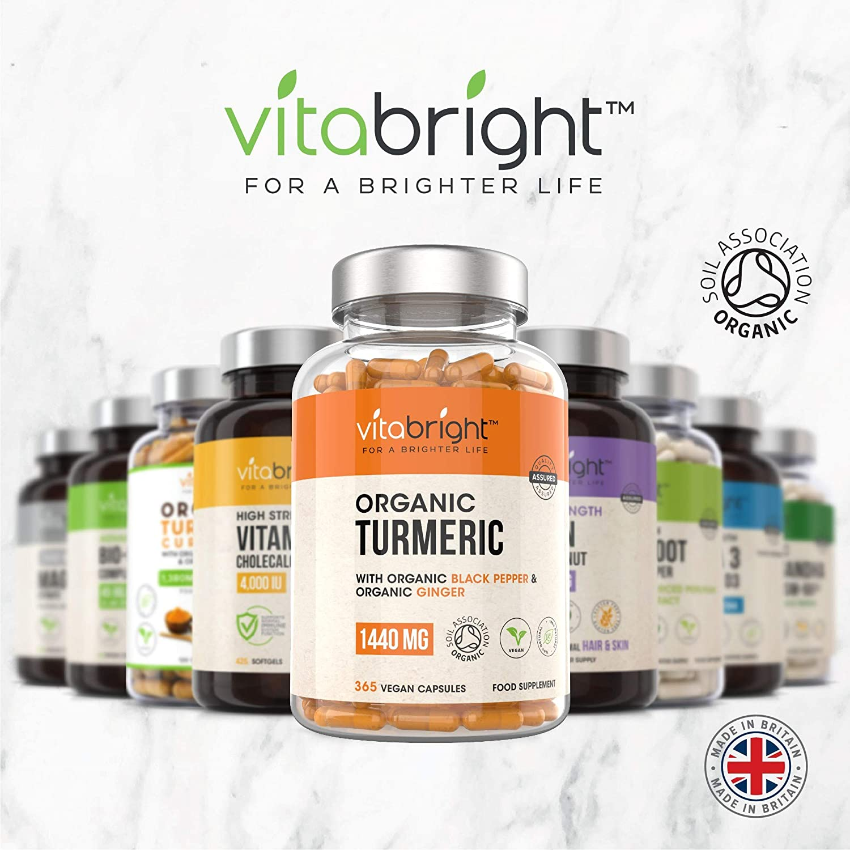 Organic Turmeric Curcumin 2160mg | 365 Capsules | High Strength Complex