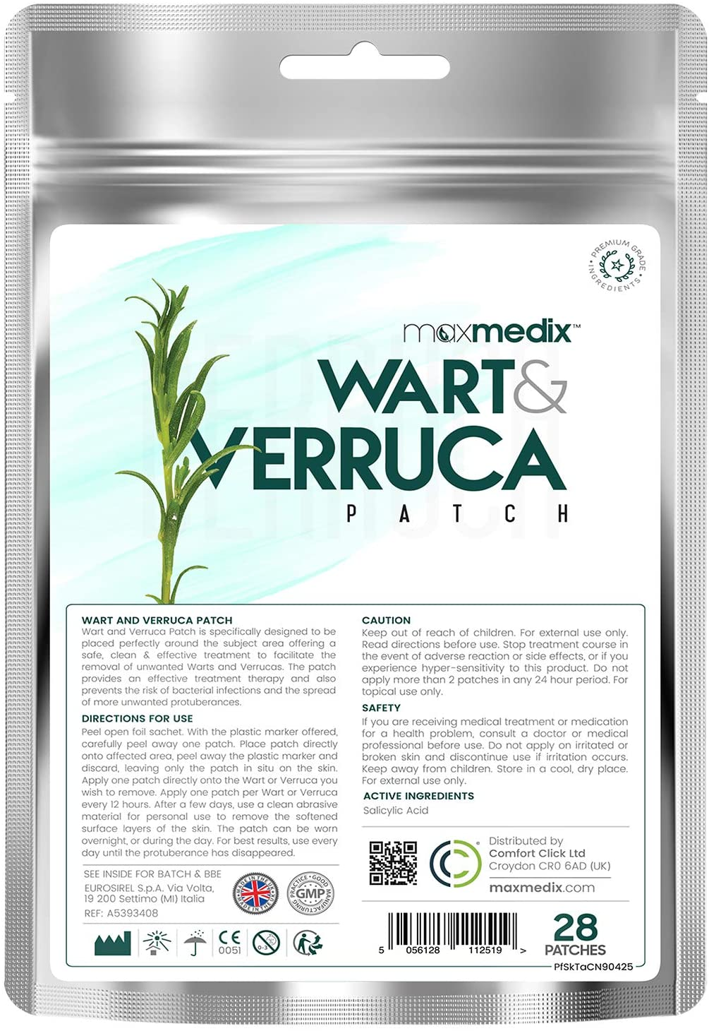 Painless Verruca Removing MaxMedix Plaster Strips