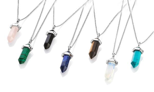 Philip Jones Lapis Genuine Gemstone Necklace