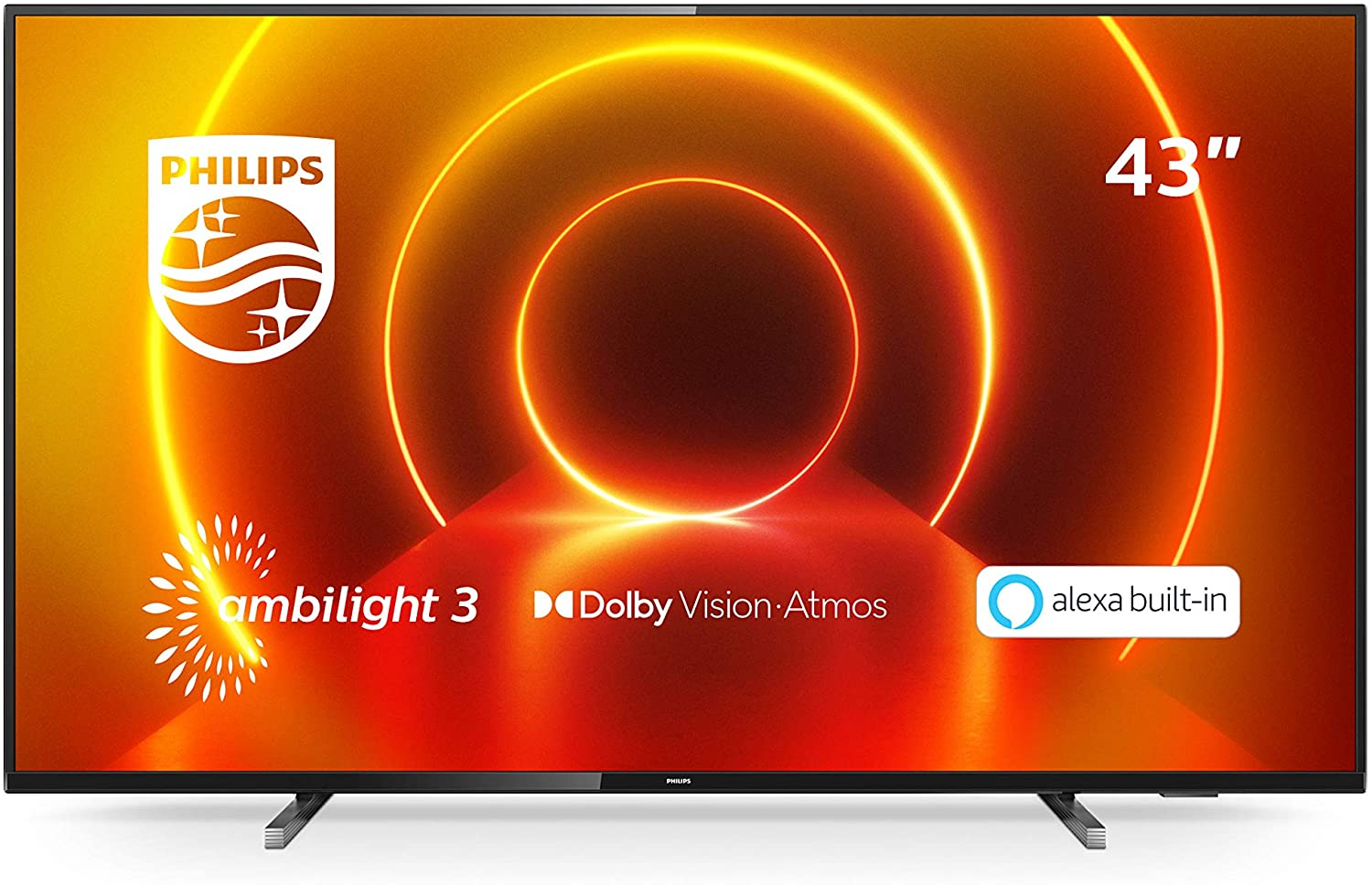 Philips 43PUS7805/12 43-Inch TV with Ambilight and Alexa