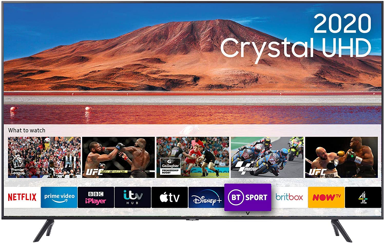 Samsung Galaxy 2020 Crystal UHD 4K HDR Smart TV
