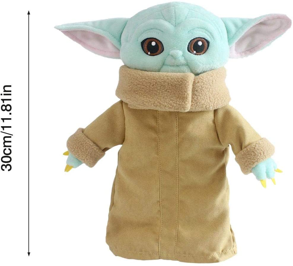 Shuaiyin Baby Yoda Plush Figure Toys, Mandalorian Yoda Doll Toys Stuffed Doll, Star Wars The Child Soft Toys, Birthday Gifts for Kids