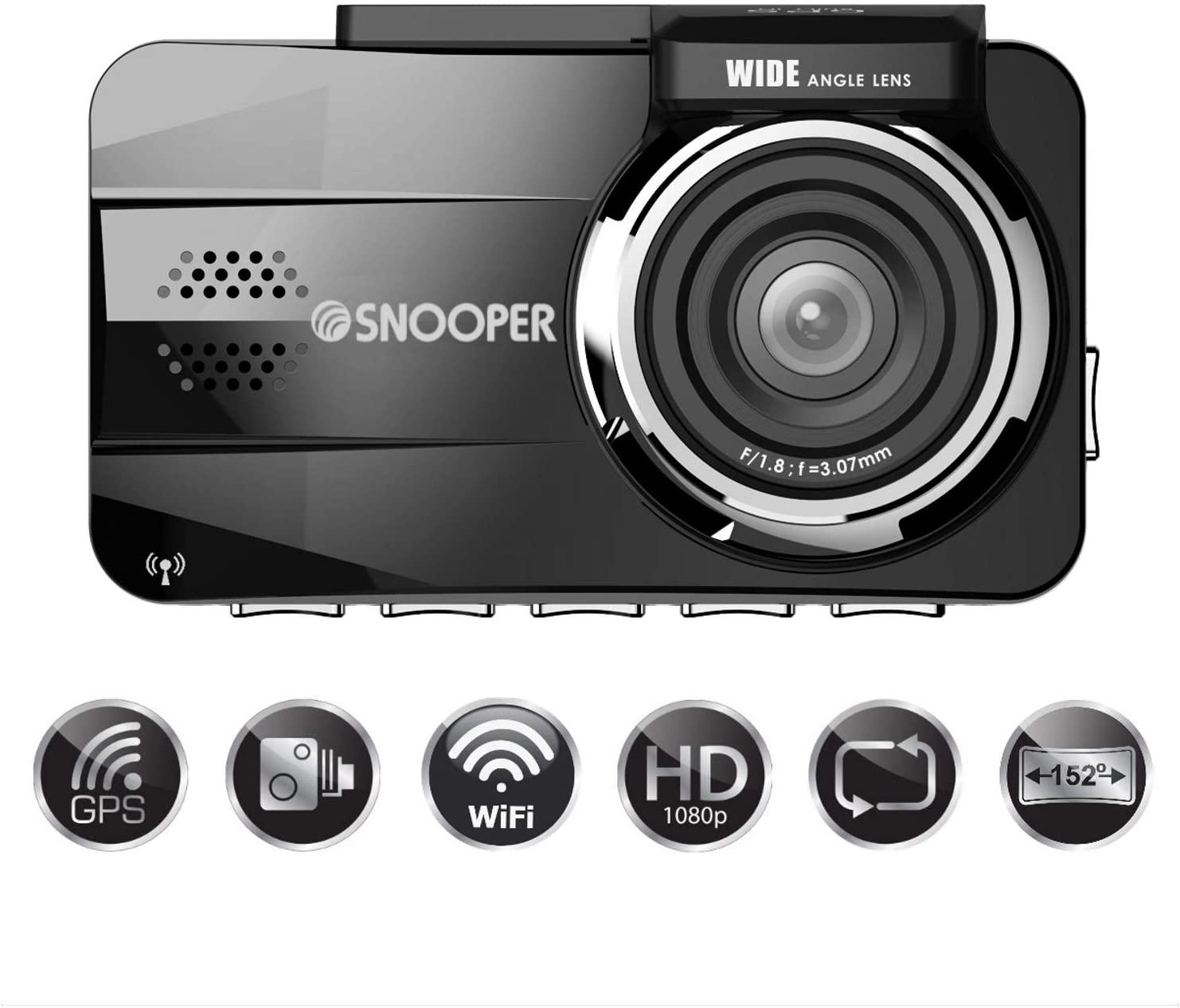 Snooper DVR-4HD G3 1080p HD GPS Dash Camera with Speed Alerts