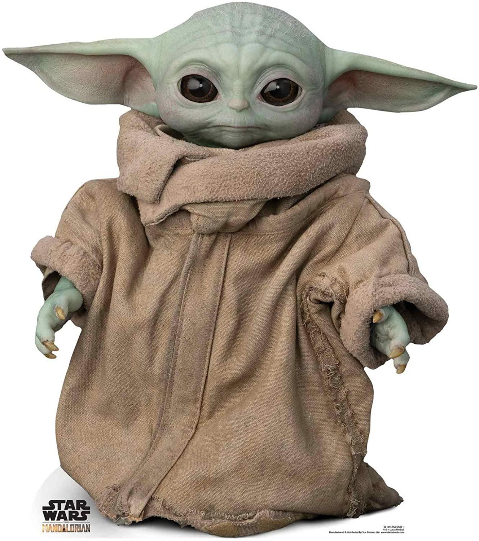 Star Cutouts Ltd SC1515 Force-Sensitive Foundling The Child Baby Yoda Star Wars The Mandalorian, Multicolour