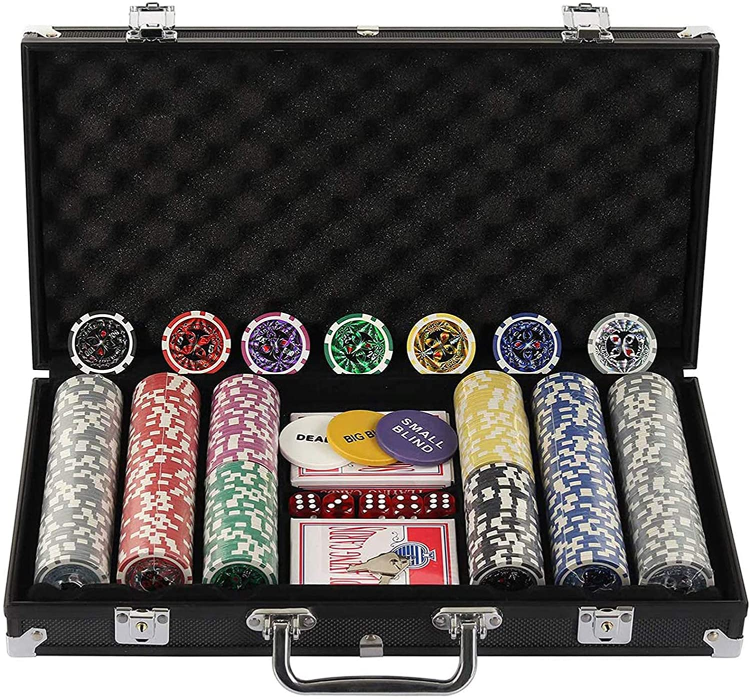 Texas Hold 'Em Poker Chip Set Display4top