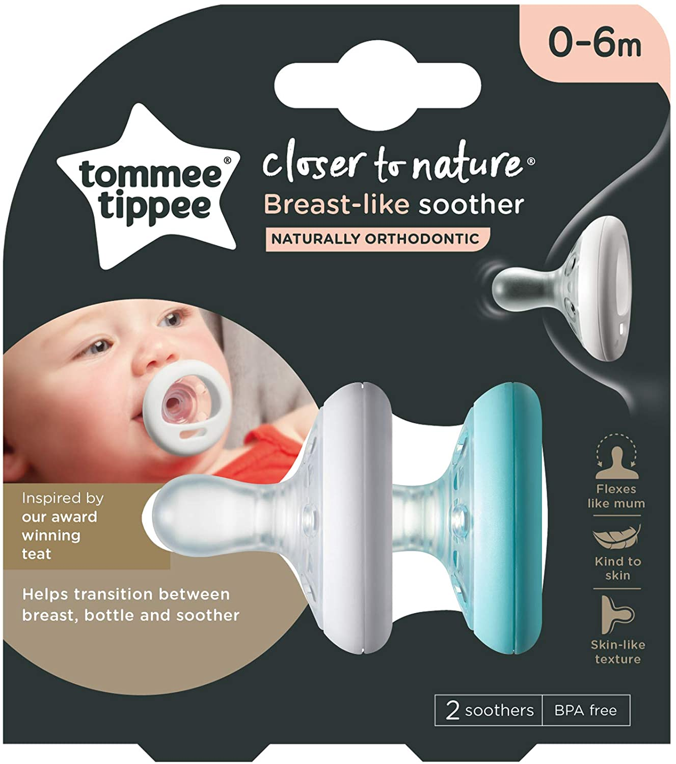 TommeeTippee Breast-like Soothers
