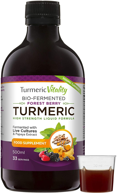 Turmeric Curcumin with Probiotics & Enzymes - Fermented High Strength Liquid Turmeric Supplement