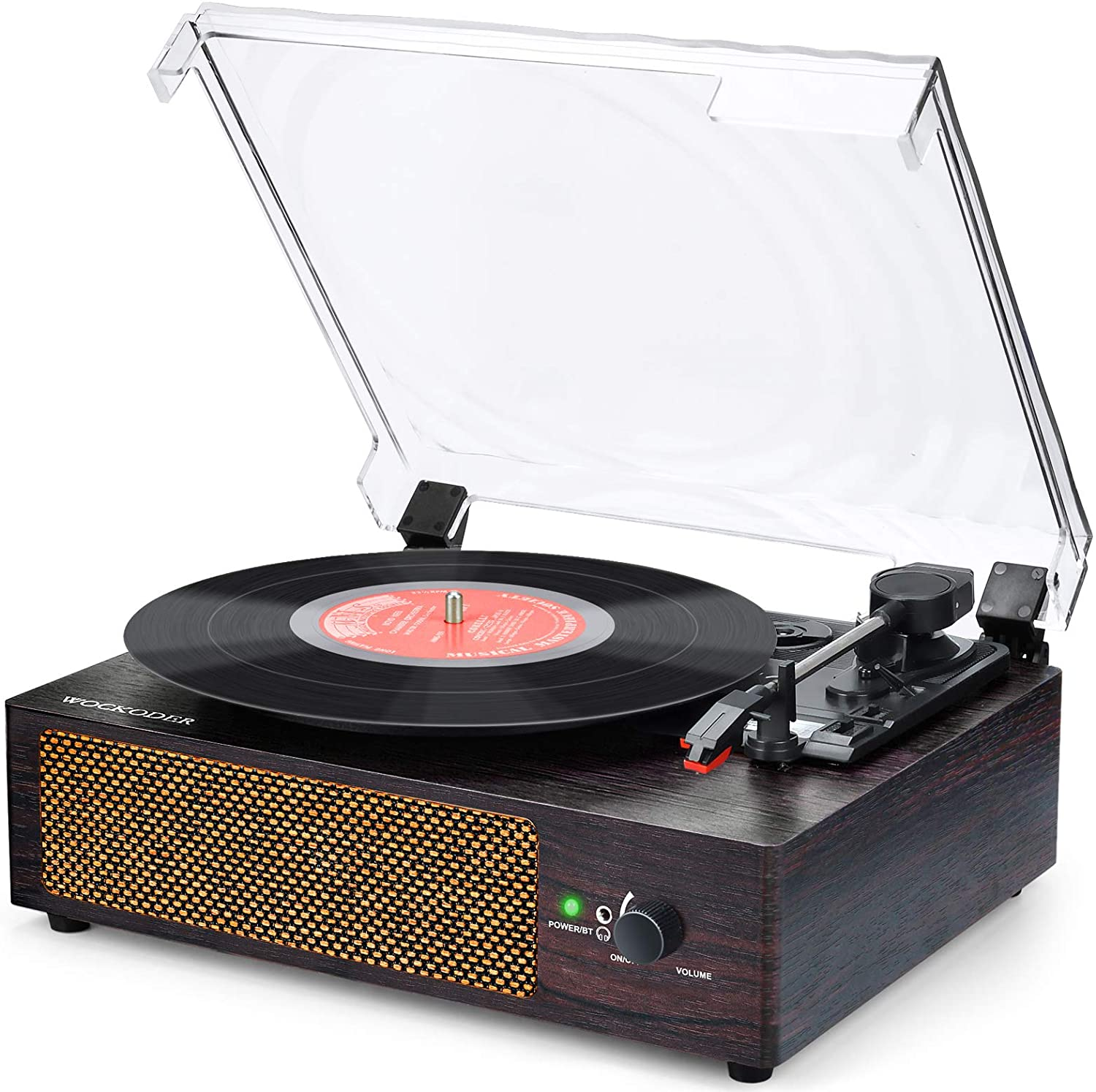 WOCKODER Vinyl Record Player with Stereo