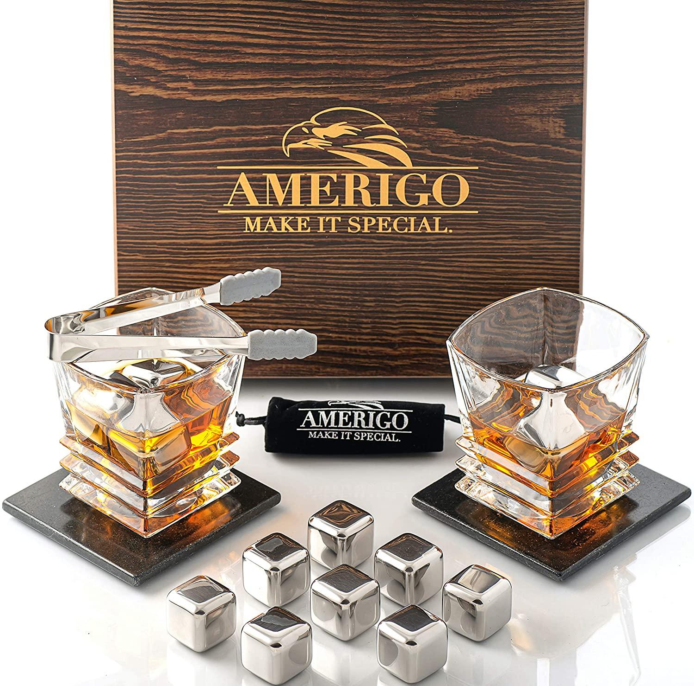 Whisky Stone Gift Set Amerigo