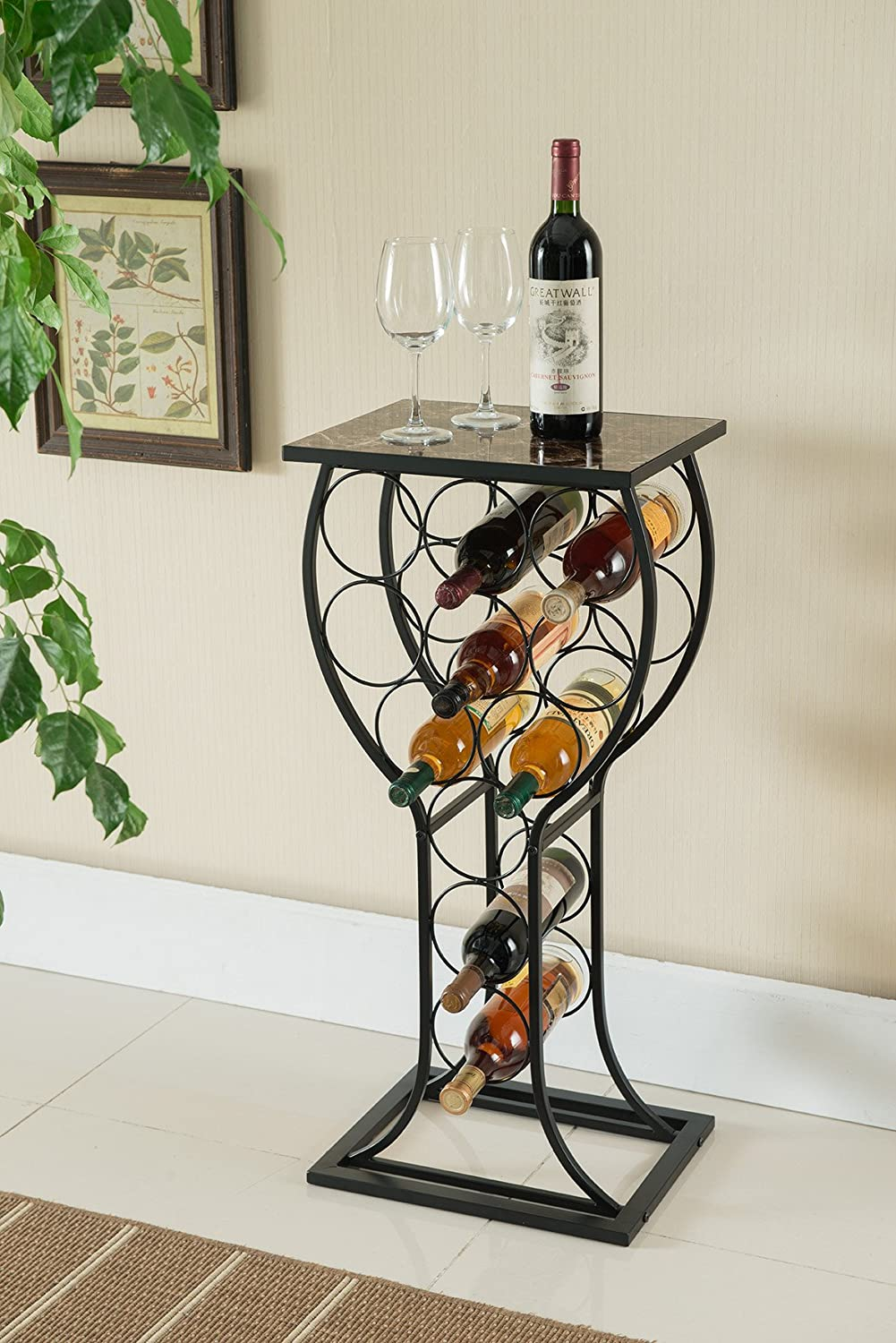 Wine Display Rack Table Kings Brand Furniture