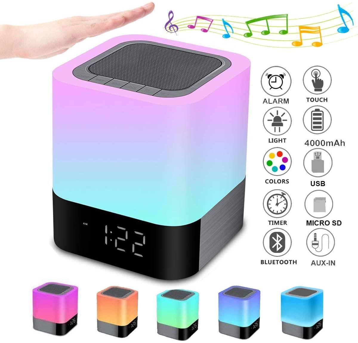 Bluetooth Speaker Bedside Lamp Biseoamz