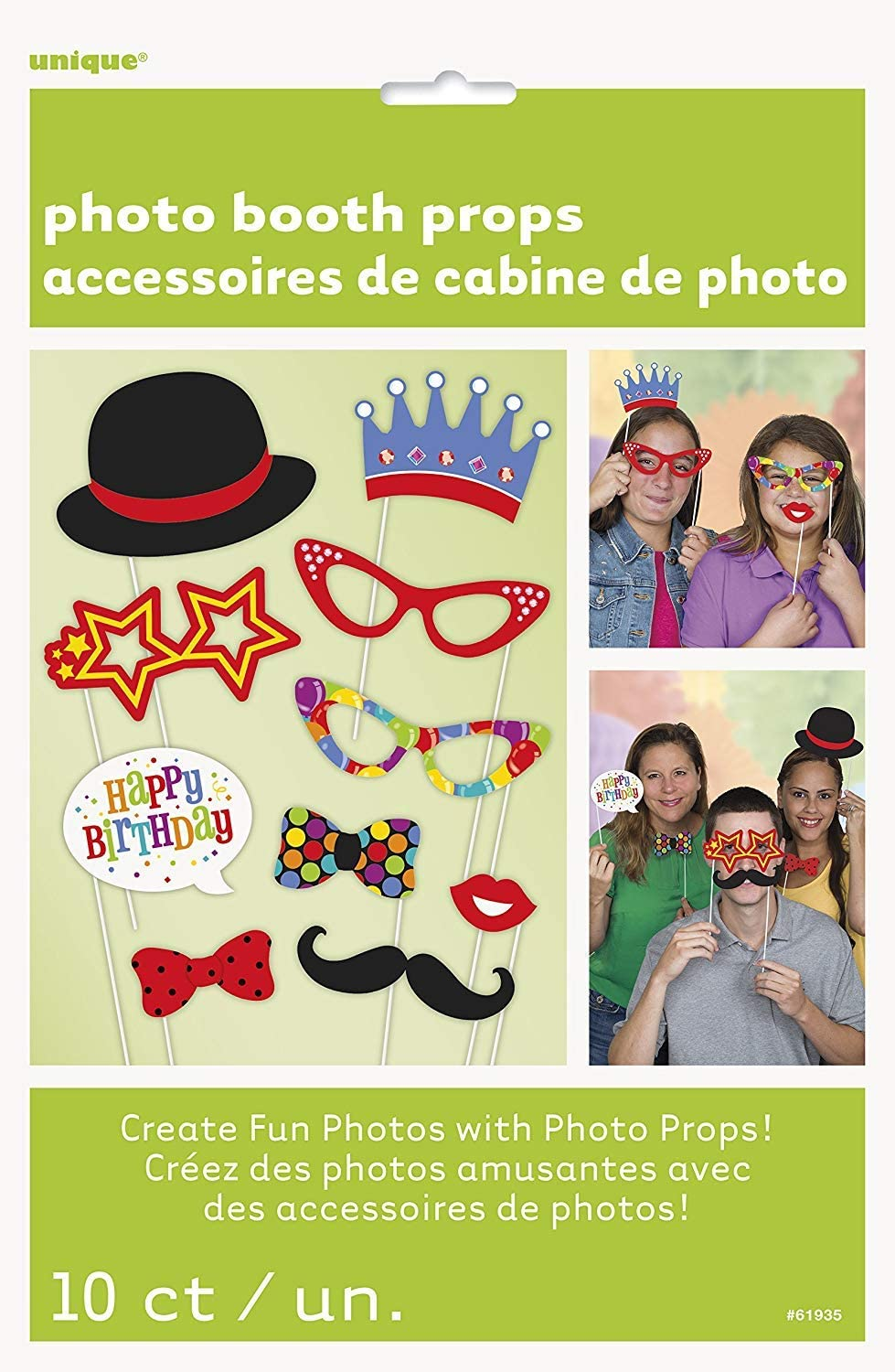Confetti Birthday Photo Booth Props