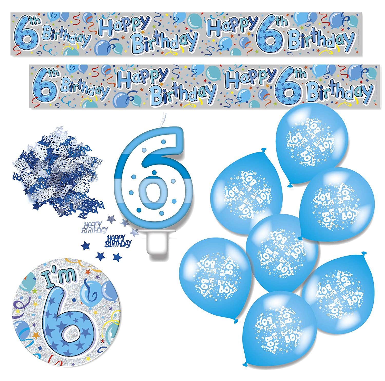 Expression Factory Birthday Boy Age 7 Blue Party Decorations Pack