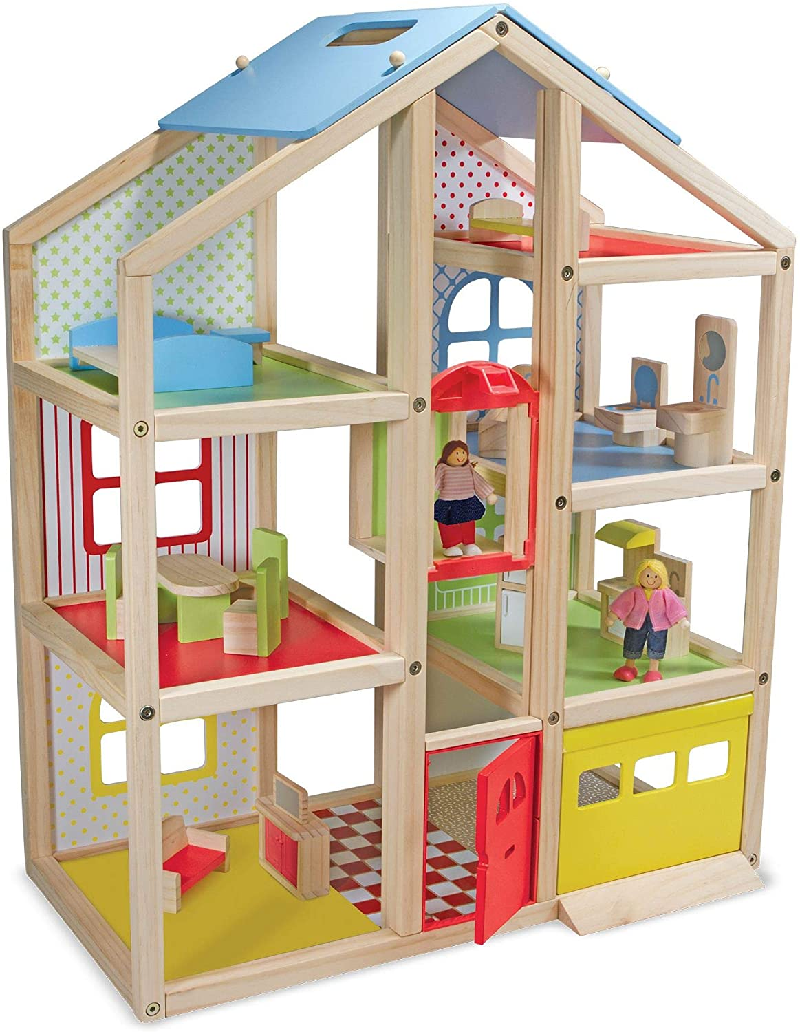 Hi-Rise Wooden Dollhouse Melissa and Doug