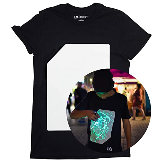 Illuminated Apparel Interactive Glow in The Dark T-Shirt