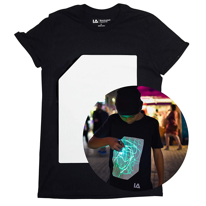 Interactive Glow-in-the-Dark T-Shirt Illuminated Apparel