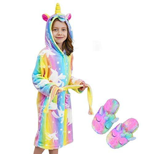 Unicorn Bonnet Bathrobe Sleepwear Cesriter