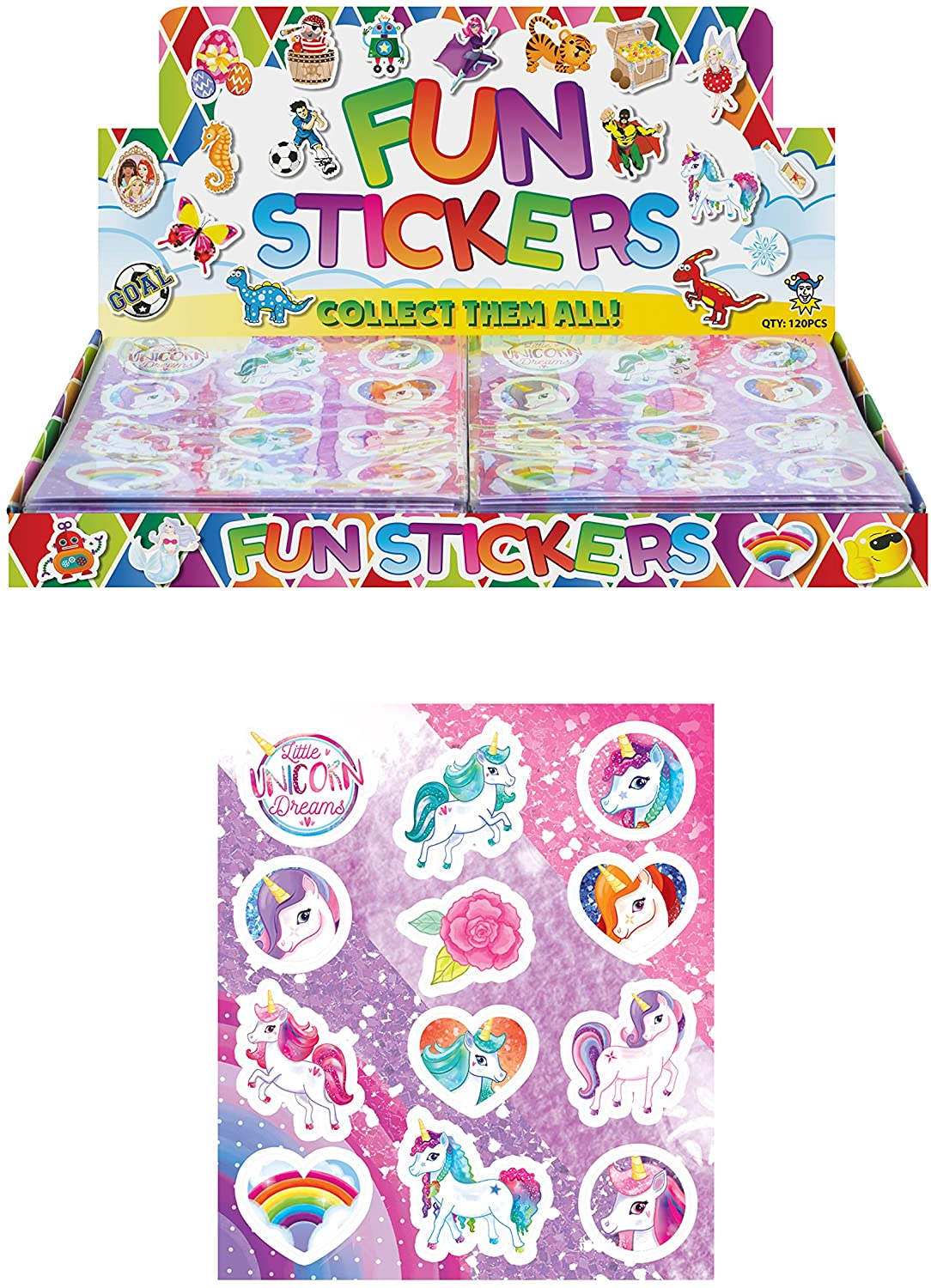 Unicorn Sticker Sheets Kids Decoration Art