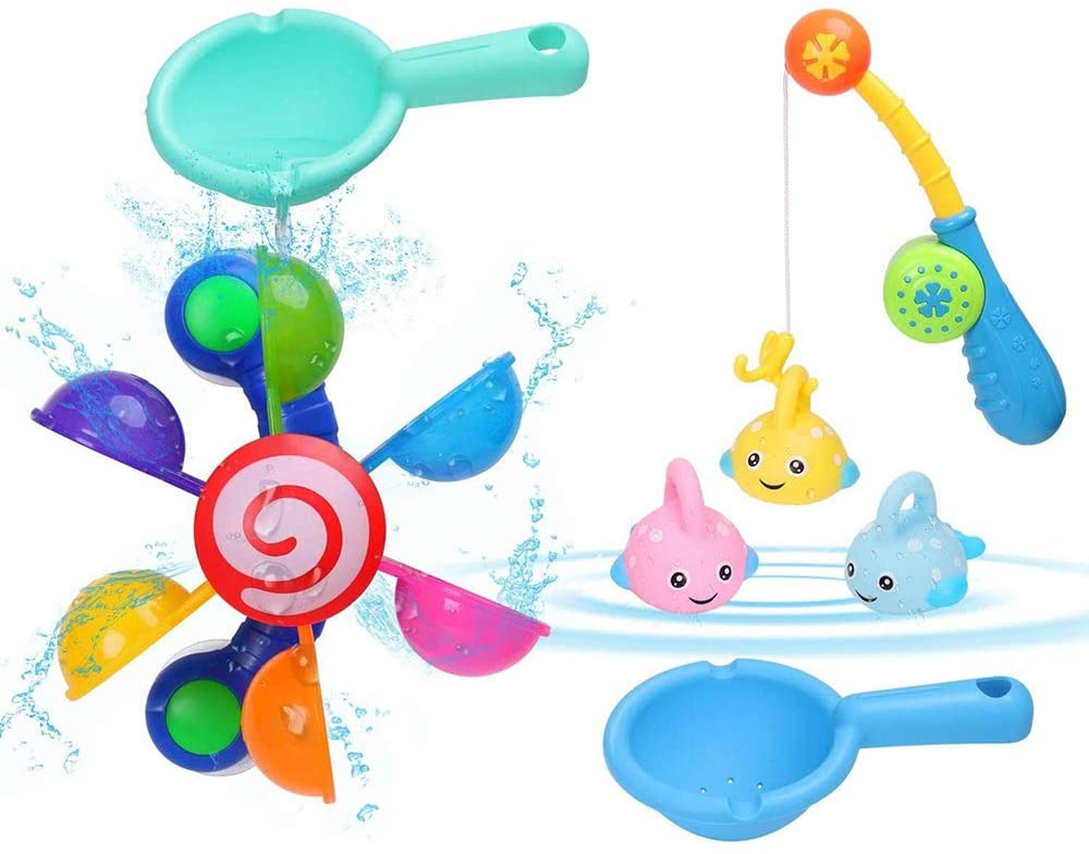 Water Wheel with Fishing Game BBLIKE