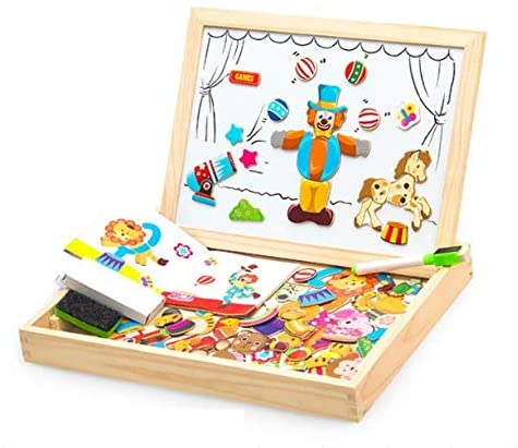 Wooden Magnetic Puzzle Game COOLJOY