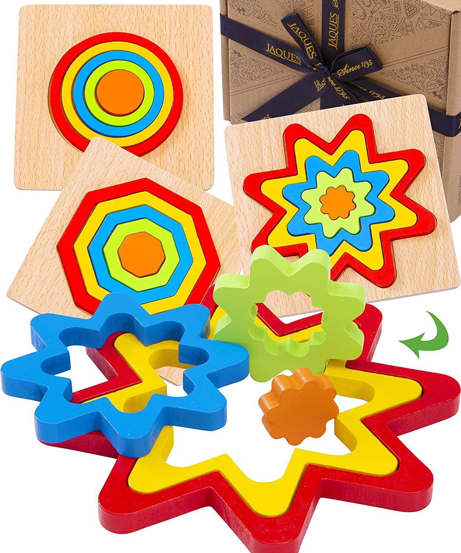 Wooden Shape Rainbow Colour Puzzle Jacques of London