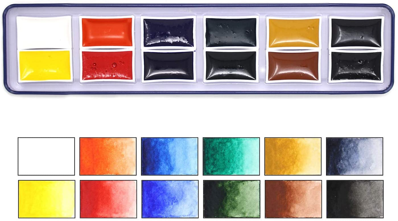 Artway High Pigment Watercolour Paint set