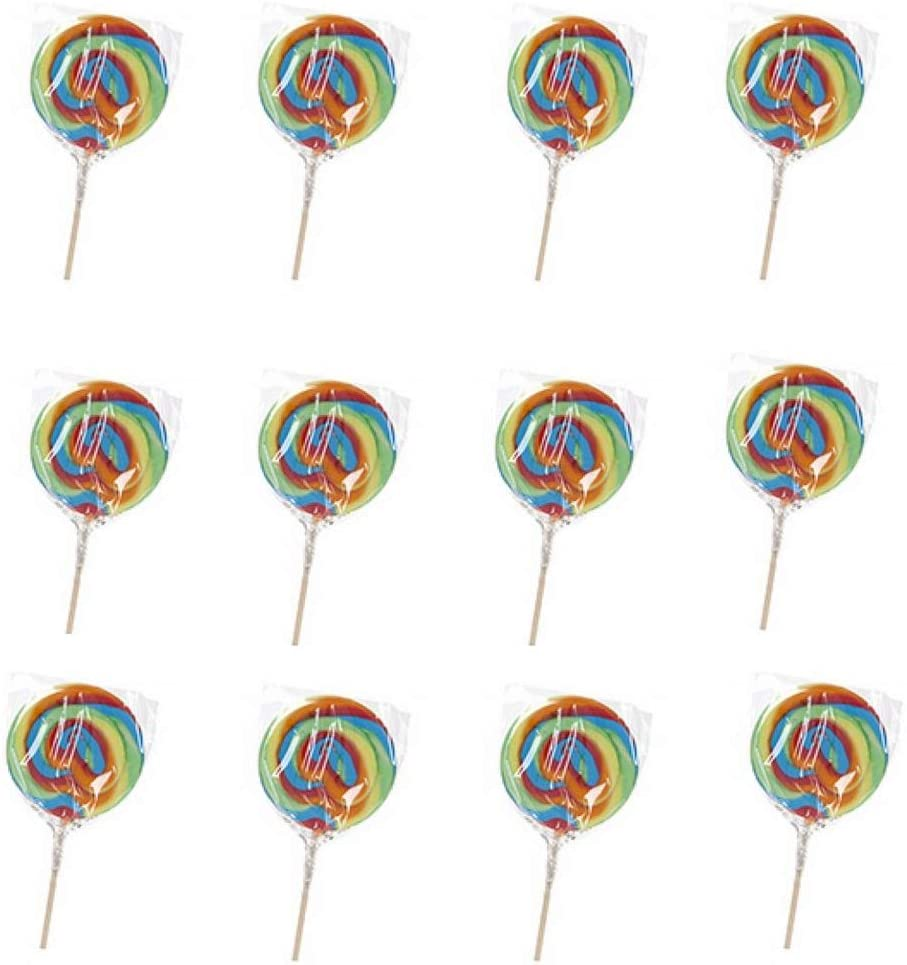 Giant Lollipop Rainbow Swirl Candy