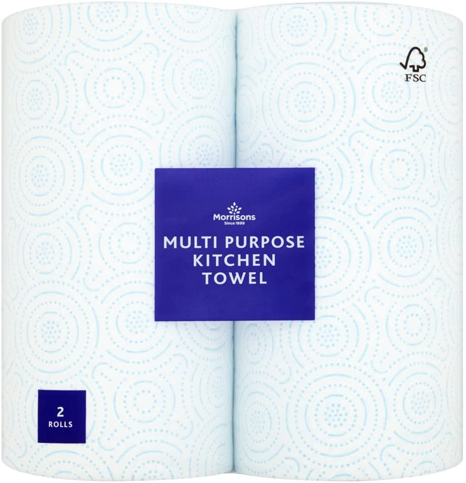 Morrisons Multi Purpose Kitchen Towel, Pack of 2