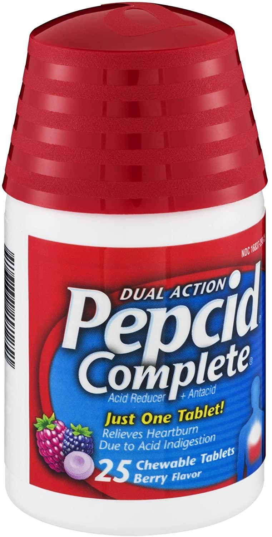 Pepcid Complete Berry 25c Size 25ct Pepcid Complete Berry Acid Reducer & Heartburn Relief